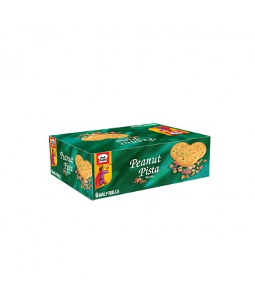 Peanut Pista Half Roll Biscuits (Pack of 6)