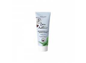 Oriflame Love Nature Refreshing 2-in-1 Mask & Scrub with Aloe Vera & Coconut Water 75ml