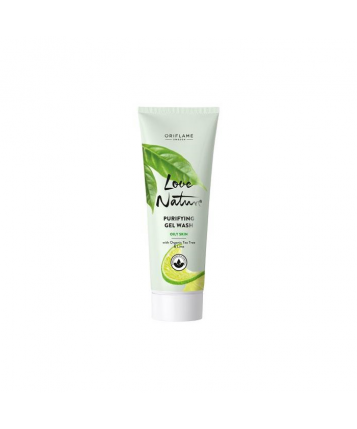 Oriflame Love Nature Purifying Gel Wash with Organic Tea Tree & Lime 125ml