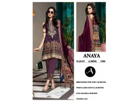 Unstitched Embroidered Linen with Linen Dupatta 2020