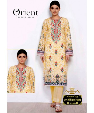 Unstitched Lawn with Lawn Dupatta for Summer 2020