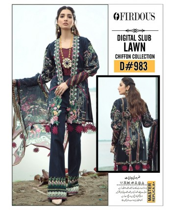Unstitched Lawn with Chiffon for Summer 2020