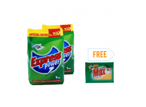Buy 2 Express Washing Powder(1kg) Get Max Dish Washing Soap Free